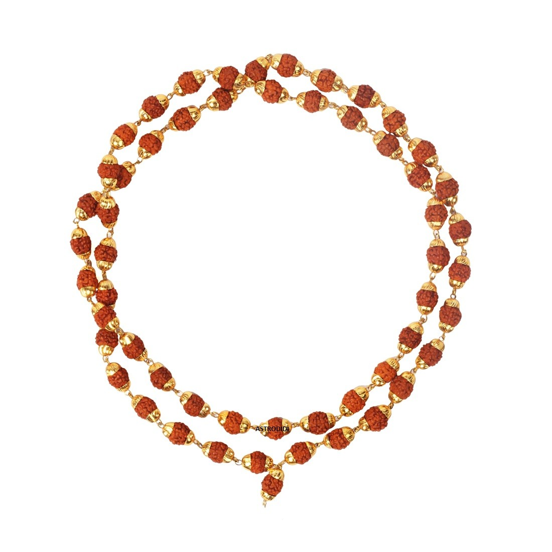 Astrodidi Rudraksha Mala (Panch Mukhi) in Copper Cap