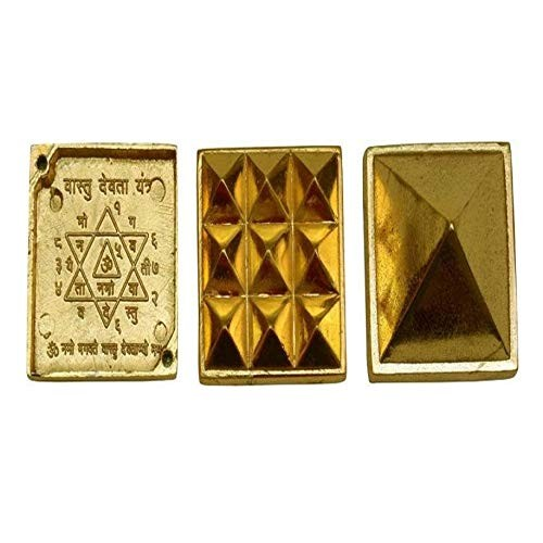 Astrodidi Golden Mix Metal Three Layer / 3 Stage/Multi Layer Vastu Pyramid for Vastu Rectification