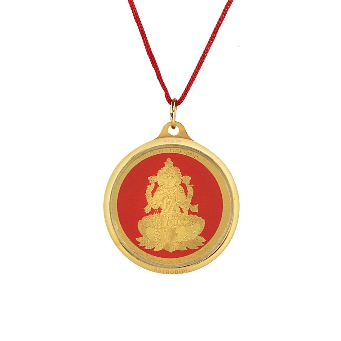 Astrodidi Lakshmi Locket in Pure Brass