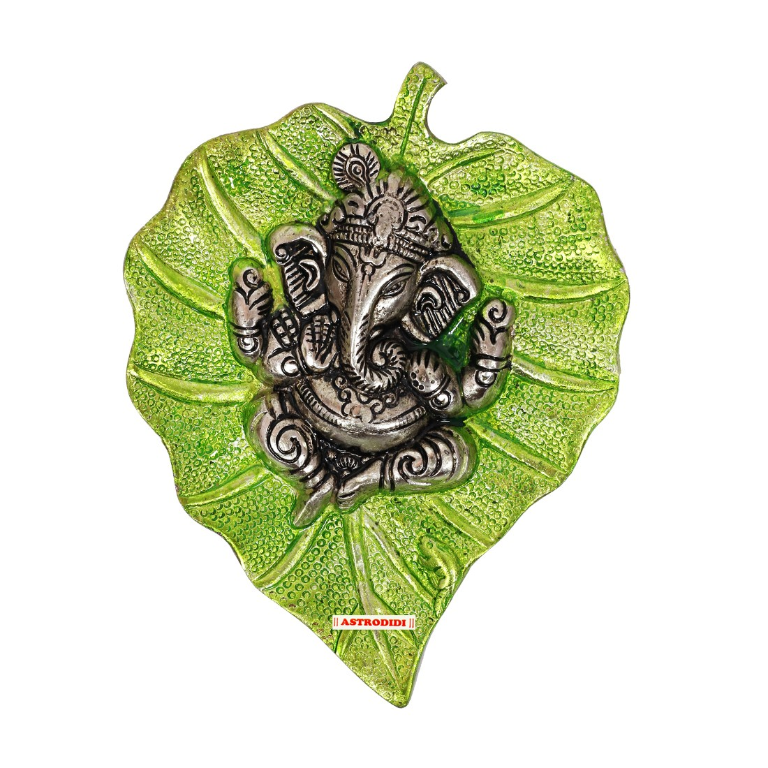 Astrodidi Leaf Ganesha Green Color Wall Hanging for Vastu