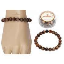 Astrodidi Tiger Eye Gemstone Bracelet (Handmade-Stretchable)
