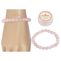 Astrodidi Rose Quartz Gemstone Bracelet (Handmade-Stretchable)