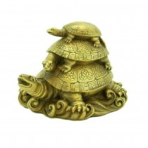 Astrodidi Feng Shui Three Tiered Tortoises Kachua Showpiece