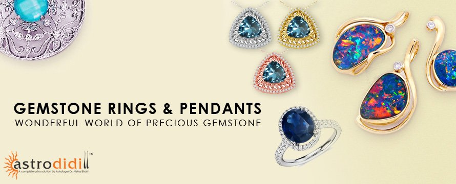 Gemstone Rings & Pendants